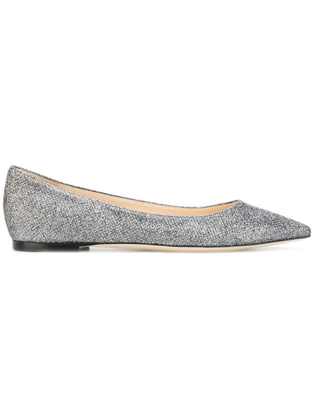 Jimmy Choo women leather grey shoes