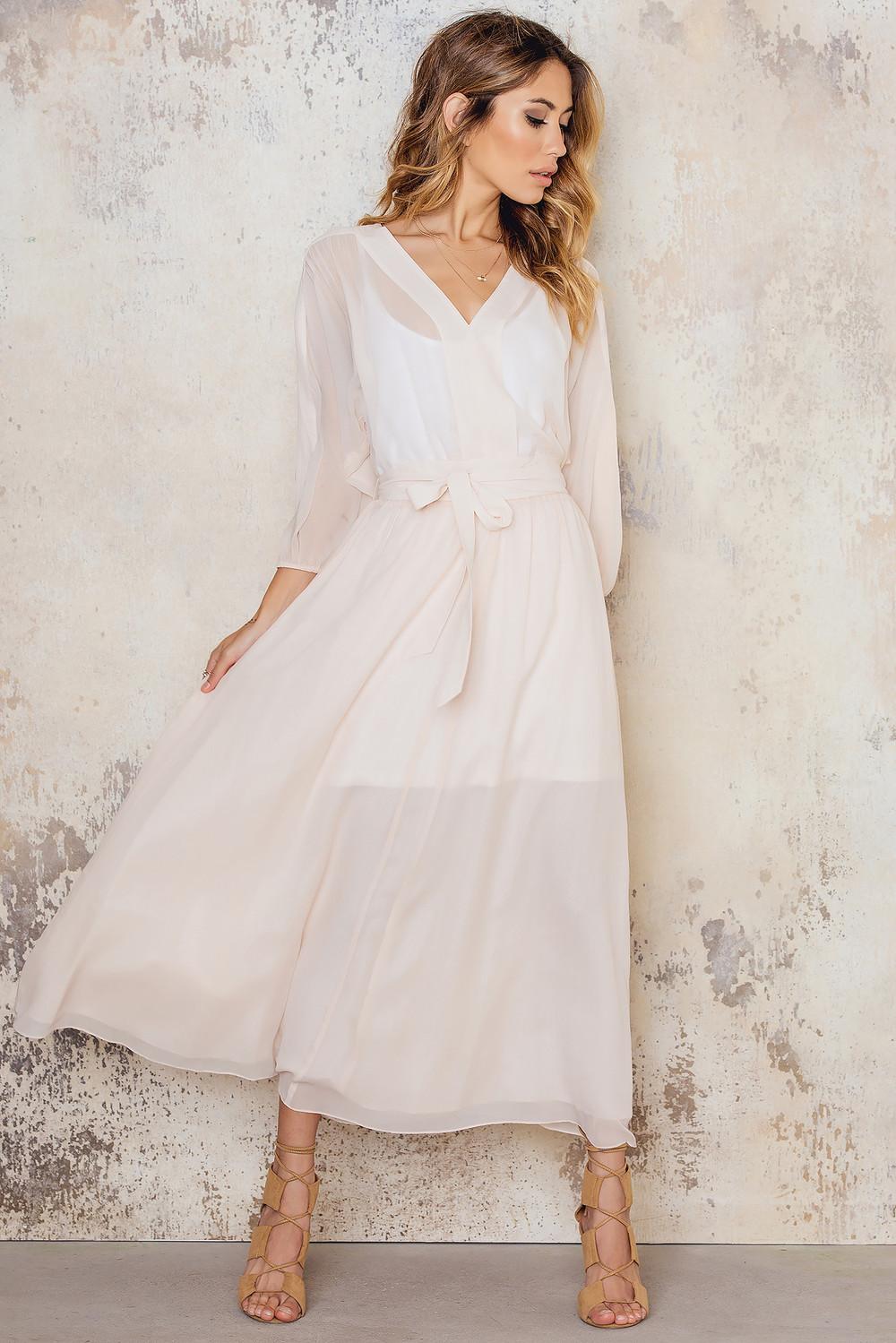 Filippa K Silk Chiffon Belt Dress