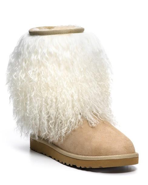 Shoes Sand Ugg Boots Sheepskin Fur Wheretoget