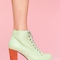 Lita platform boot - mint in  shoes at nasty gal