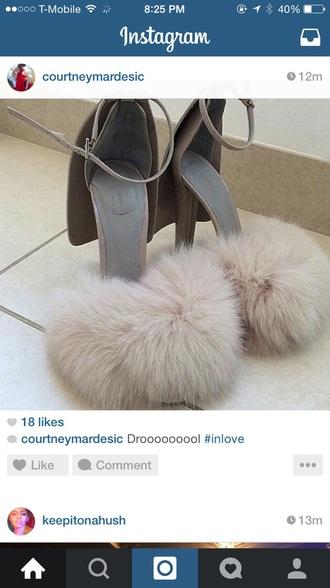 shoes fur