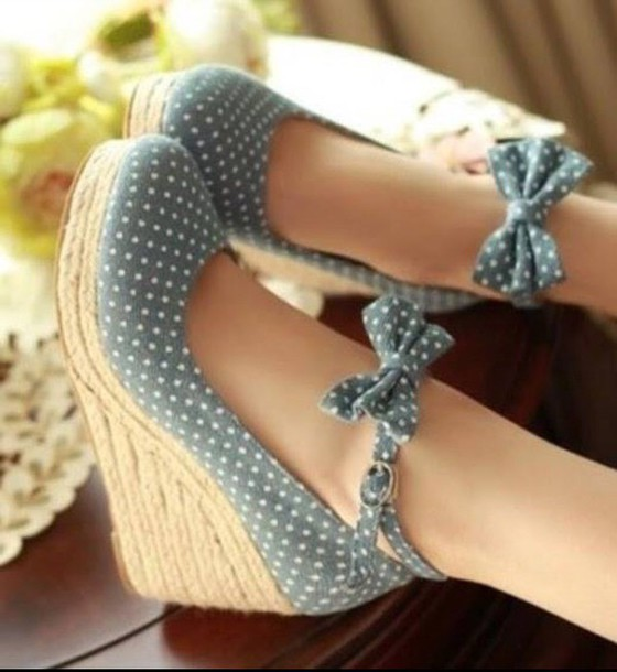 shoes heels polka dots
