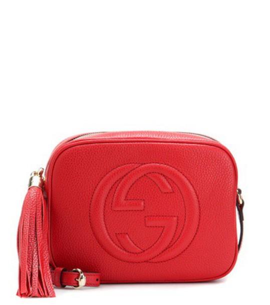 gucci bag shoulder bag leather red