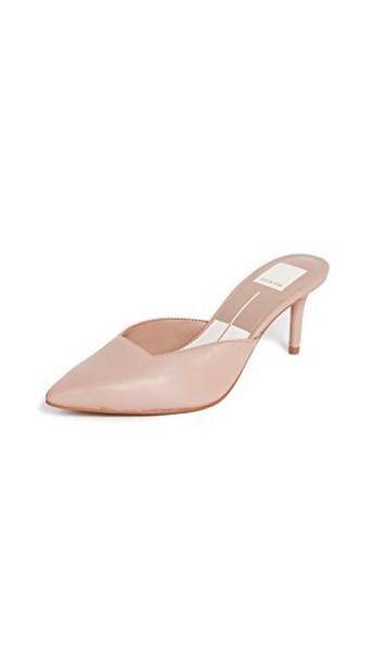 mules blush shoes