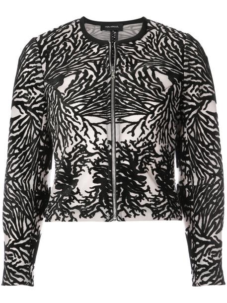 Yigal Azrouel jacket women spandex black coral