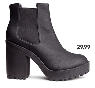 black boots shoes heels h&m zara shoes primark chelsea boots zara boots