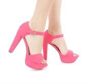 shoes,heels,pink,chunky heels,pumps,platform heels,platform pumps,hot pink,pink high heels