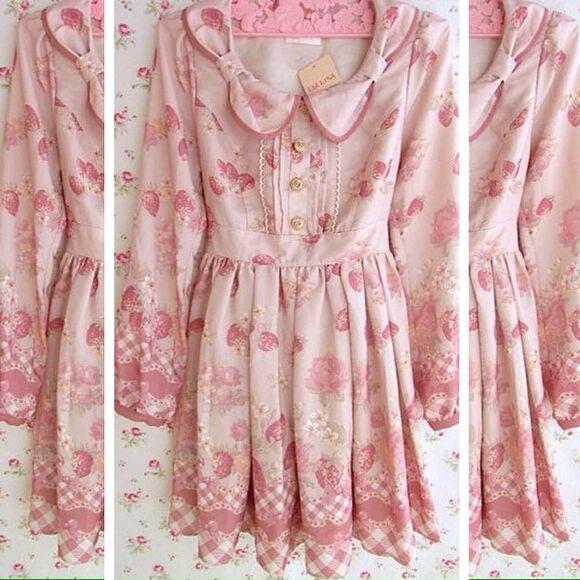pink dress japan harajuku harajuku fashion