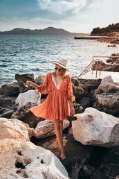 stephanie sterjovski - life + style,blogger,dress,jewels,hat,bag