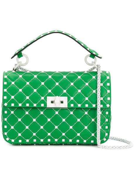Valentino Garavani metal women bag shoulder bag leather green