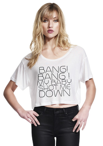 t-shirt kill bill nancy sinatra song white crop top loose tshirt uma thurman song quote on it crop loose fit
