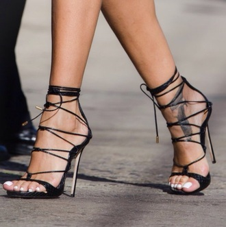 shoes stilettos heels lace up black tumblr cute