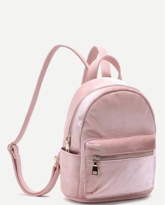 bag girl girly girly wishlist backpack pink velvet suede