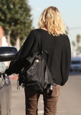 olsen sisters blogger pants backpack