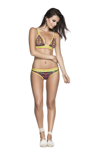 swimwear bikini full coverage print triangle bikiniluxe