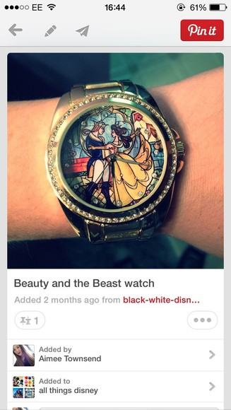 disney belle beauty and the beast jewels watch cute disney watch
