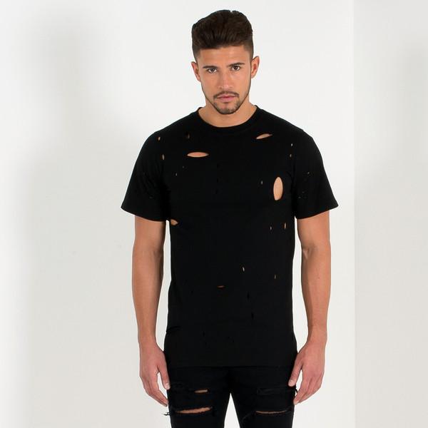 Distressed T-Shirt - Black