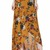 Yellow High Waist Floral Pattern Wrap Boho Maxi Skirt