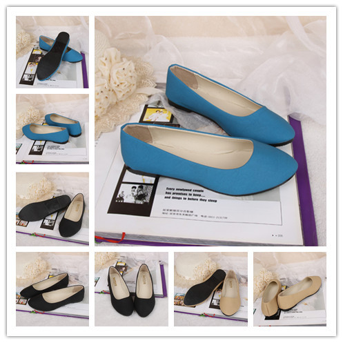 Free shipping new fahsion women size35 39 candy sweet 3 different colors flat shoes flats BDX034-in Flats from Shoes on Aliexpress.com