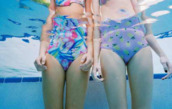 swimwear,one piece,pineapple,pineapple print,pineapple swimsuit,pink,yellow,green,floral swimsuit,two-piece,spring break