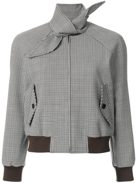 Balenciaga jacket women spandex wool brown