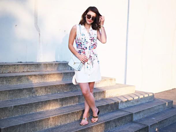 samieze blogger shirt dress bag