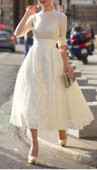 skirt lace skirt midi skirt