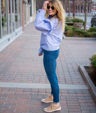 lestylorouge blogger shirt jeans shoes sunglasses