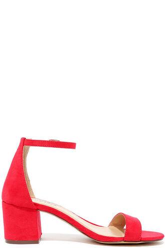 shoes sandals heels red red shoes red sandals block heels ankle strap heels mid heel sandals