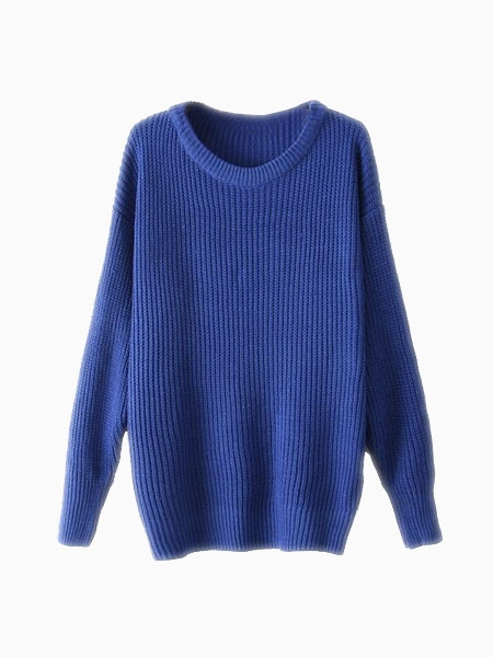 Blue Basic Sweater | Choies