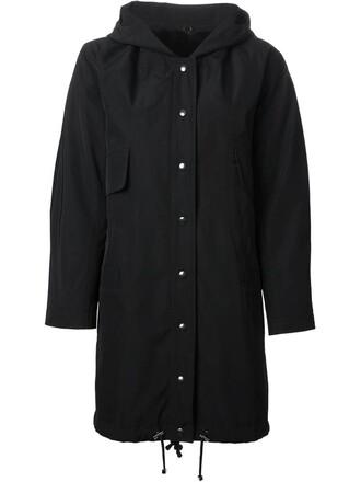 parka fur women black coat