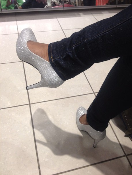 shoes sparkle high heels