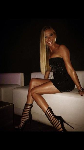 shoes black heels love