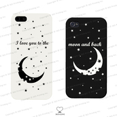 phone cover,matching couples,matching phone cases,matching phone covers,his and hers gifts,wedding gifts,romantic gifts,his and hers phone cases,stars and moon,iphone case,galaxy cases,i love you to the moon and back,i love you to the moon and back case