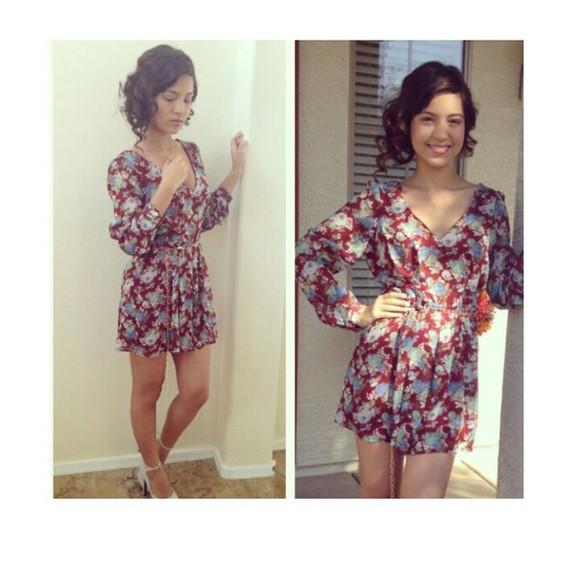 long sleeve dress floral dress fall outfits short dress