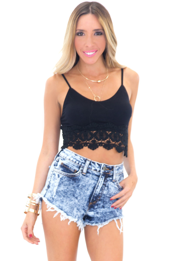 ASHTON ACID PREMIUM DENIM SHORTS | Haute & Rebellious