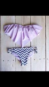 swimwear,pink swimwear,aztek,cheveron,purple,bikini
