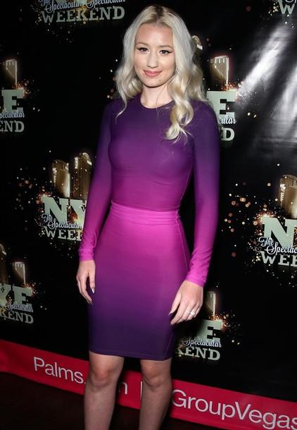 Blonde with Purple Dress