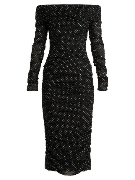 Dolce & Gabbana dress print silk white black