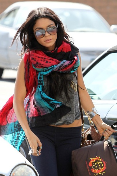 image Vanessa hudgens in scarf top and booty shorts