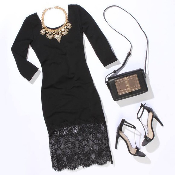 mac jewels bag dress little black dress lace dress outfit shoes necklace chanel pretty dress classy
