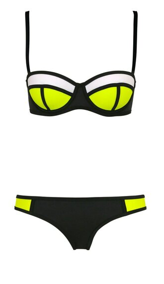 swimwear triangl bikini cola pop pop bottom black green black swimwear push up summer triangle white multicolor top cool green swimwear fashion style