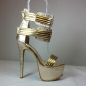 shoes,gold,open toes,platform shoes,sandals,stilettos,high heels,summer,summer shoes,summer 2015,straps