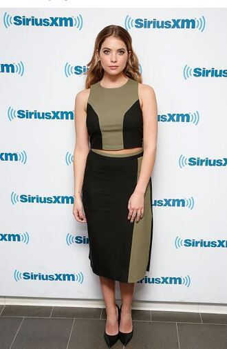 skirt top two piece dress set two-piece pumps ashley benson