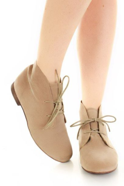 eacad15a5fe shoes, boots, booties, flat, ankle boots, tan, lace up, suede, taupe ...