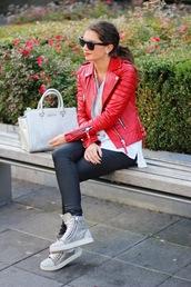 fashionhippieloves,jacket,blouse,jeans,bag,shoes,sunglasses