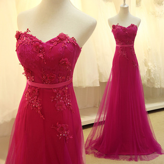 dress prom dress chiffon applique