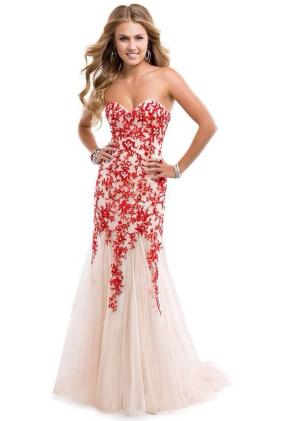 dress, red dress, nude dress, floral dress, long dress, long prom ...