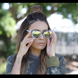 sunglasses hun quay mirrored sunglasses cat eye desi perkins youtuber
