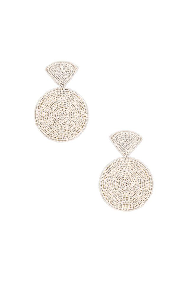 Sachin & Babi Luna Earrings in white